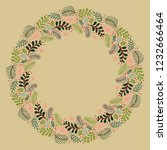christmas wreath with round... | Shutterstock .eps vector #1232666464