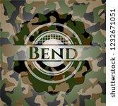 bend camouflage emblem   Shutterstock .eps vector #1232671051