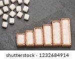 refined white sugar powder and... | Shutterstock . vector #1232684914
