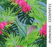 watercolor seamless pattern... | Shutterstock . vector #1232696911