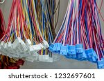 colorful wire harness and... | Shutterstock . vector #1232697601