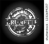 brunette on grey camo texture | Shutterstock .eps vector #1232699257