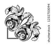 baroque vector decorations...   Shutterstock .eps vector #1232703094