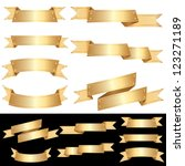set of vector blank golden... | Shutterstock .eps vector #123271189