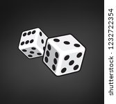 two white dices isolated on... | Shutterstock .eps vector #1232722354