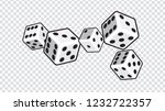 five white dices isolated on... | Shutterstock .eps vector #1232722357