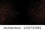 orange glitter powder splash... | Shutterstock .eps vector #1232722381