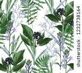 vector floral seamless pattern... | Shutterstock .eps vector #1232738164