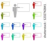 teacher icon in multi color...