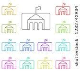 museum icon in multi color....