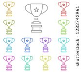 trophy icon in multi color....