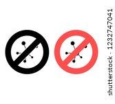 molecule ban  prohibition icon. ...