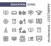 education icons set simple flat ... | Shutterstock . vector #1232748994