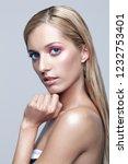 portrait of beautiful girl.... | Shutterstock . vector #1232753401