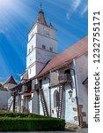 fortified church in... | Shutterstock . vector #1232755171