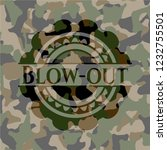 blow out on camo pattern | Shutterstock .eps vector #1232755501