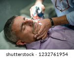 close up shot of caucasian man... | Shutterstock . vector #1232761954