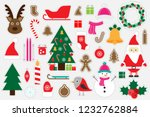 different colorful christmas... | Shutterstock .eps vector #1232762884