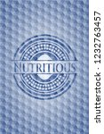 nutritious blue emblem with... | Shutterstock .eps vector #1232763457