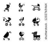pram icons set. simple set of 9 ... | Shutterstock .eps vector #1232765464