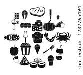 delicious food icons set....   Shutterstock .eps vector #1232765494