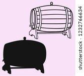 wooden whiskey  beer  rum  wine ... | Shutterstock .eps vector #1232766634