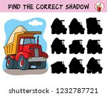 big red tipper truck. find the... | Shutterstock .eps vector #1232787721
