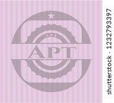 apt pink emblem. vintage. | Shutterstock .eps vector #1232793397