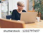 middle aged woman in glasses... | Shutterstock . vector #1232797657
