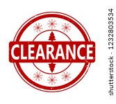 clearance rubber stamp for... | Shutterstock .eps vector #1232803534