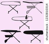 ironing board vector silhouette ... | Shutterstock .eps vector #1232810314
