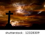 cross silhouette and the clouds ... | Shutterstock . vector #12328309