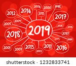 2019 happy new year and...   Shutterstock .eps vector #1232833741