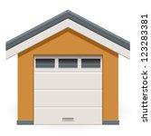 car garage   Shutterstock .eps vector #123283381