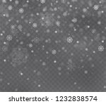 christmas snow on dark... | Shutterstock .eps vector #1232838574