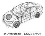concept car. vector rendering... | Shutterstock .eps vector #1232847904
