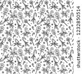 christmas seamless pattern with ... | Shutterstock .eps vector #1232850514