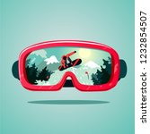 snowboard protective mask with... | Shutterstock .eps vector #1232854507