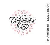 happy valentines day typography ... | Shutterstock .eps vector #1232858704