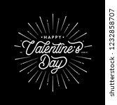 happy valentines day typography ... | Shutterstock .eps vector #1232858707