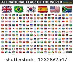 all national flags of the world ... | Shutterstock .eps vector #1232862547