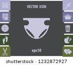 nappy icon  vector design... | Shutterstock .eps vector #1232872927