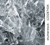 transparent ice structure close ... | Shutterstock . vector #123287434