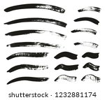 calligraphy paint brush curved... | Shutterstock .eps vector #1232881174