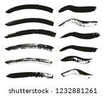 calligraphy paint brush curved... | Shutterstock .eps vector #1232881261