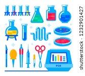nanotechnology and biochemistry.... | Shutterstock .eps vector #1232901427
