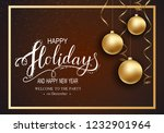 holidays greeting card for... | Shutterstock .eps vector #1232901964