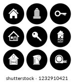 real estate icons set   house... | Shutterstock .eps vector #1232910421