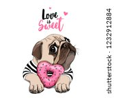 card of a valentine's day.... | Shutterstock .eps vector #1232912884