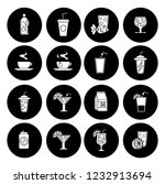 drink icons set   vector glass... | Shutterstock .eps vector #1232913694